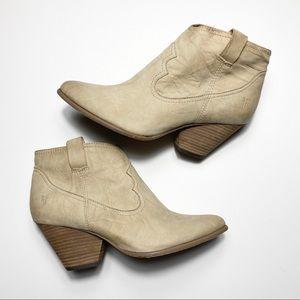 Frye Women's Ankle Booties Nubuck Leather Zipper